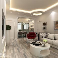 2018精选面积74平现代二居客厅装修欣赏图