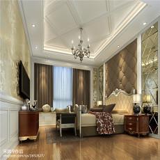 热门面积118平别墅卧室欧式装饰图片欣赏
