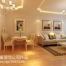 精选面积108平欧式三居客厅实景图片欣赏