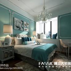 热门面积128平复式卧室美式实景图片