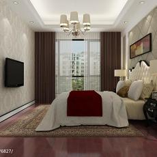 2018126平米四居卧室欧式装修效果图片