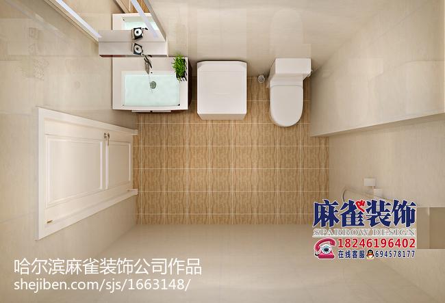 精美面积76平现代二居卫生间装修设计效果图片