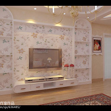 热门115平米田园复式客厅装饰图片大全
