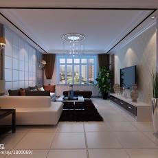 精选104平方三居客厅现代效果图片大全