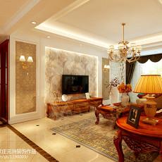 95平米三居客厅欧式实景图片欣赏