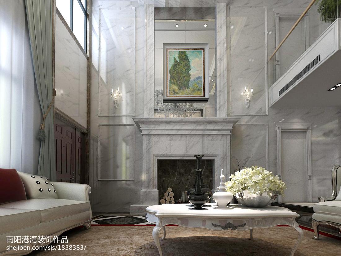 2018精选110平米欧式复式客厅装饰图片大全