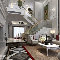 2018精选115平米欧式复式客厅装修设计效果图片欣赏