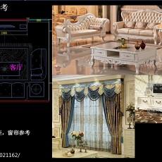 精美大小91平欧式三居客厅效果图片欣赏
