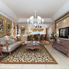 99平米三居客厅美式装修设计效果图片
