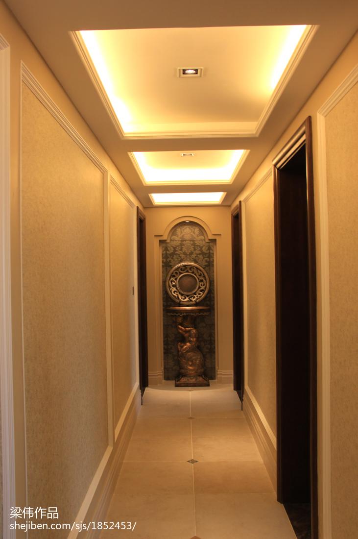 热门141平米现代别墅过道装修实景图片大全
