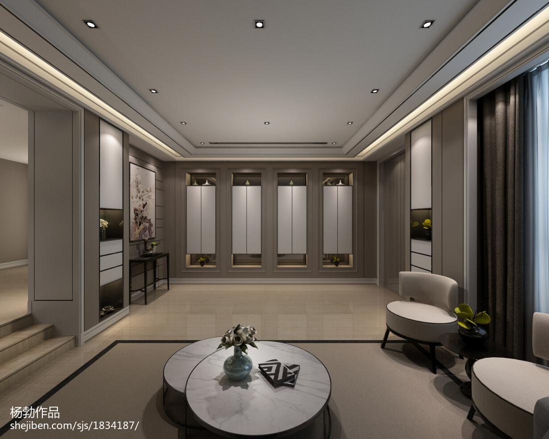 精美面积116平别墅客厅现代装修效果图片大全