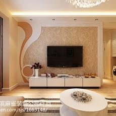 热门面积79平现代二居客厅装修图片