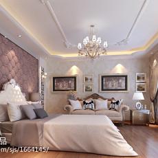 2018精选120平米欧式别墅卧室装修设计效果图片欣赏