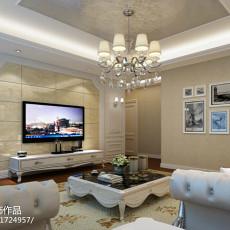 面积107平欧式三居客厅实景图片欣赏