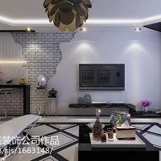 103平客厅三居现代装修设计效果图片欣赏