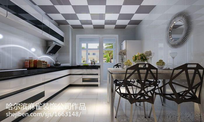 2018精选大小102平现代三居厨房欣赏图片