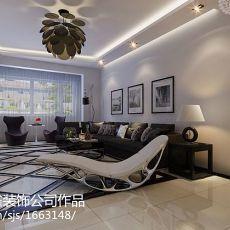 精选95平方三居客厅现代装修欣赏图片大全