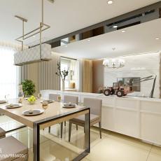 2018精选106平米三居餐厅现代装修欣赏图