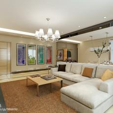 精美92平客厅三居现代装修效果图片大全