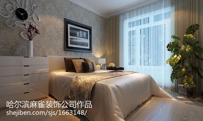 精美79平米现代小户型卧室装修设计效果图片欣赏
