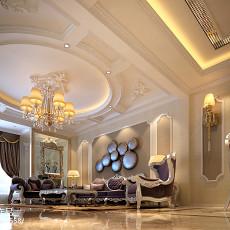 精选面积134平复式客厅欧式装修设计效果图片