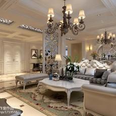 95平方三居客厅欧式效果图片