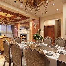 热门复式餐厅美式设计效果图
