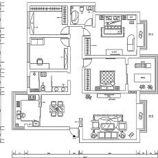 精美面积70平欧式二居客厅装修图片