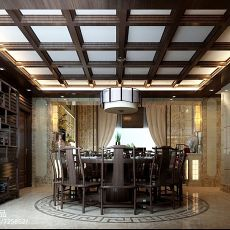 热门122平米新古典别墅餐厅欣赏图