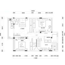 2018124平米美式别墅客厅装修设计效果图