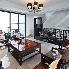 2018130平米新古典别墅客厅效果图片