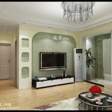 101平米三居客厅现代效果图