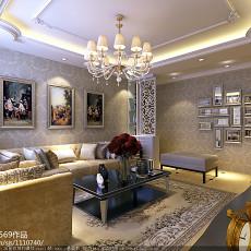 201879平米二居客厅欧式装修效果图片欣赏