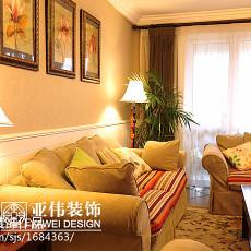 精美面积91平美式三居客厅装修设计效果图片欣赏