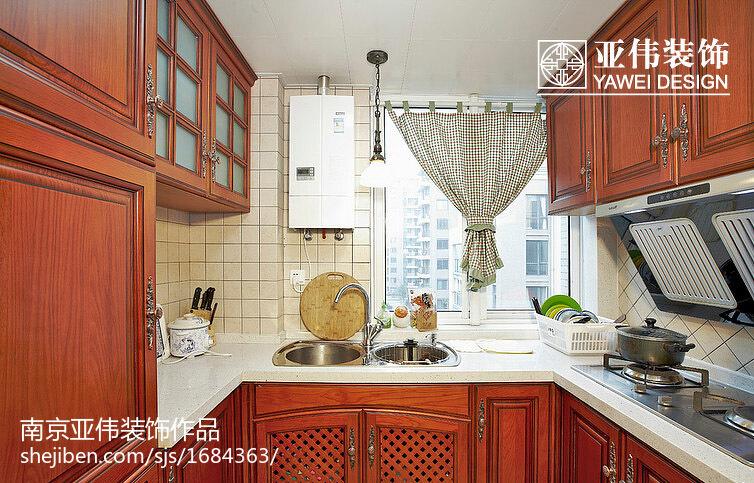 2018最新面积100平美式三居厨房装修图片欣赏