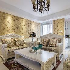 精美77平米二居客厅欧式装修效果图片