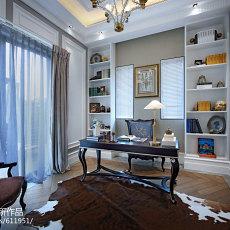 精选136平米欧式别墅书房装饰图片欣赏