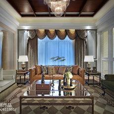 精选面积133平别墅客厅欧式装修实景图