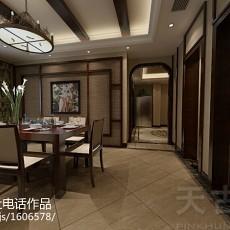 精美101平米三居餐厅东南亚装饰图