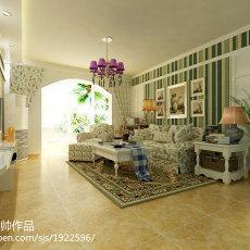 精美73平米二居客厅美式装修设计效果图片欣赏