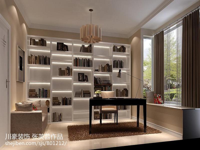 精美面积70平现代二居书房实景图片大全