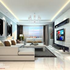 精选面积107平现代三居客厅效果图片欣赏