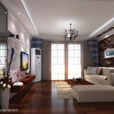 201873平米二居客厅现代设计效果图