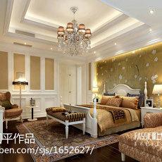 热门面积90平欧式三居卧室设计效果图