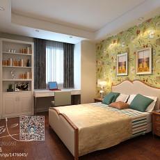 2018面积96平欧式三居卧室装修欣赏图片大全