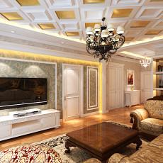 77平米二居客厅欧式实景图