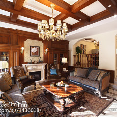 精美135平米美式别墅客厅效果图片欣赏