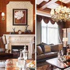 热门面积130平别墅客厅美式欣赏图片