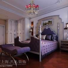2018129平米四居卧室欧式效果图片