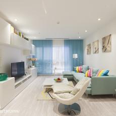 99平方三居客厅现代装修效果图片